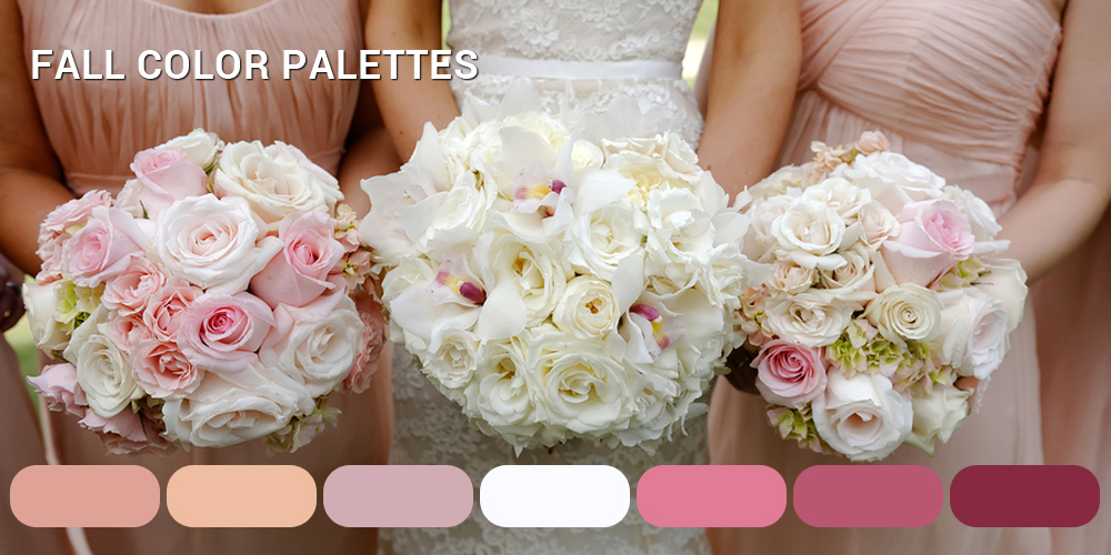 Fall Wedding Color Palettes 2016